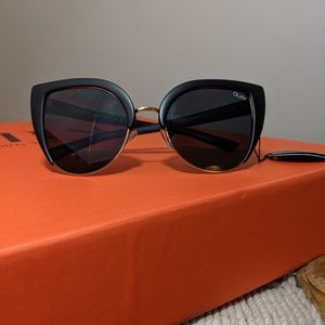 Quay x Desi Perkins 🧿 Black cat eye sunglasses